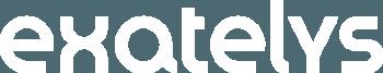 Logo EXATELYS blanc format moyena